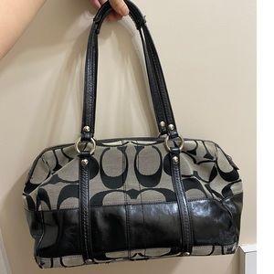Coach Black Signature Handbag